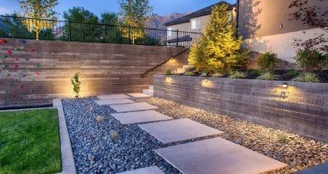 legge betong i oppkjørsel, innkjørsel stein
